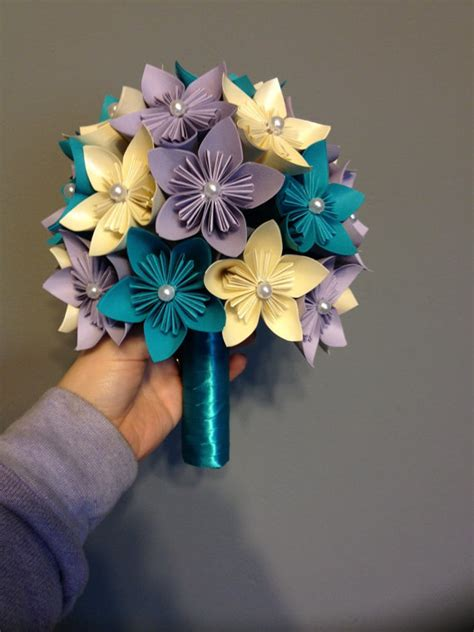 Origami Kusudama Flower Bouquet - kusudama paper flower bouquet wedding flowers home decor