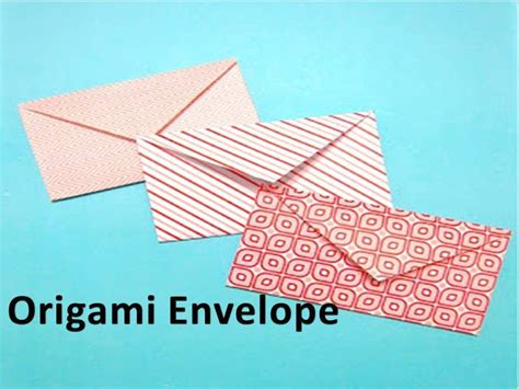 How To Make A Paper Envolope - how to make an origami envelope