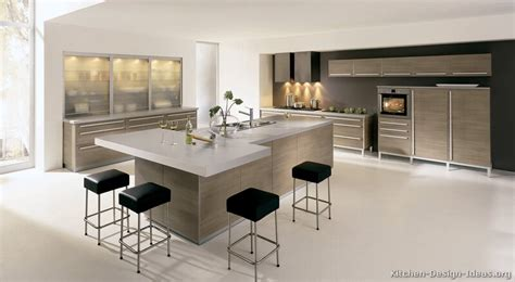 contemporary kitchen islands with seating modern light wood kitchen cabinets light greige slab