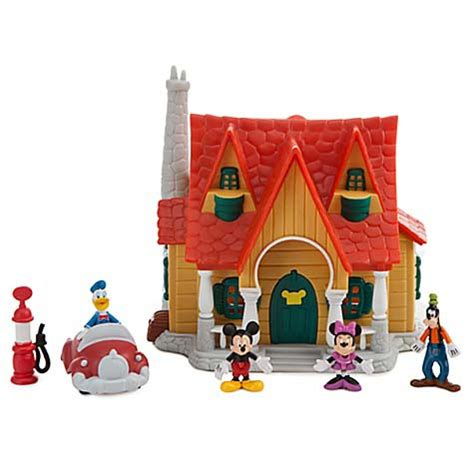 mouse house your wdw store disney figurine set mickey mouse house micro play set