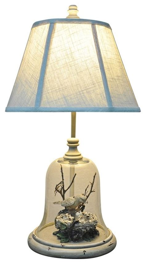 Country Cottage Lighting by Bird In Cloche Table L Traditional Table Ls By