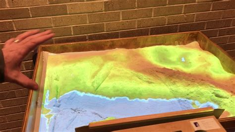 topographic analog  digital sand table