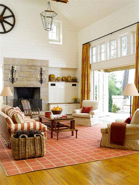 cozy decorating orange red  inspired room