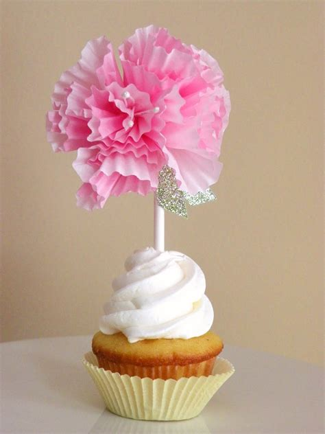 icing designs diy cupcake liner flower toppers