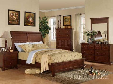 acme furniture bedroom set in walnut finish ac01720aset 10220 urbana bedroom in walnut by acme