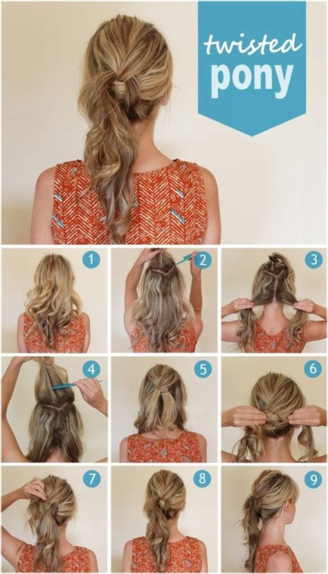 cute  easy ponytail hairstyles tutorials popular