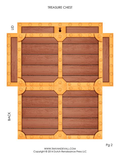 paper treasure chest template tim de vall comics printables for