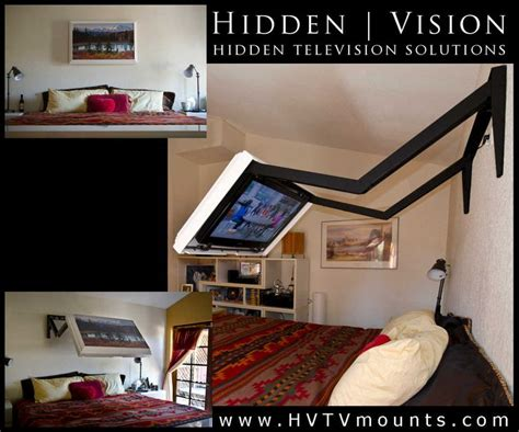 Bed Frame With Tv Mount Extends Your Tv Your Bed Then Folds Back To The Wall Where The Tv And Mount Are Completely