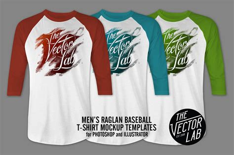 Men S Raglan Mockup Templates Psd Ai Product Mockups On Creative Market Baseball T Shirt Design Templates