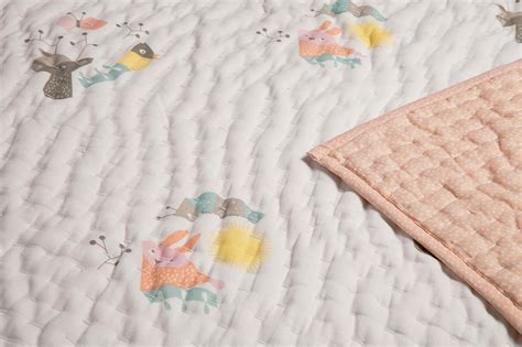 Cotton Quilted Blankets Menagerie Organic Cotton Quilted Blanket Nursery Works