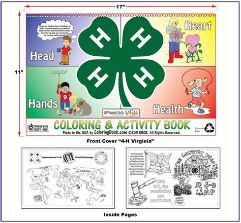free 4 h pledge coloring pages