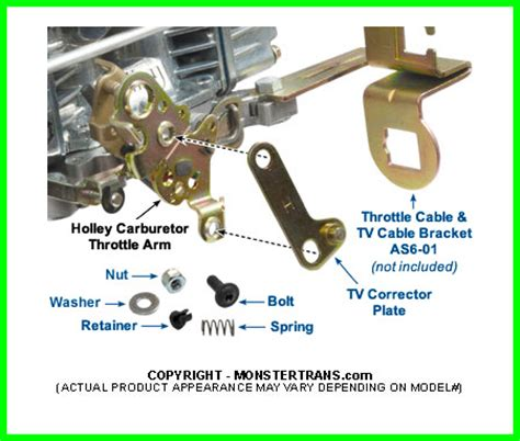 tv cable corrector kit  holley carburetors