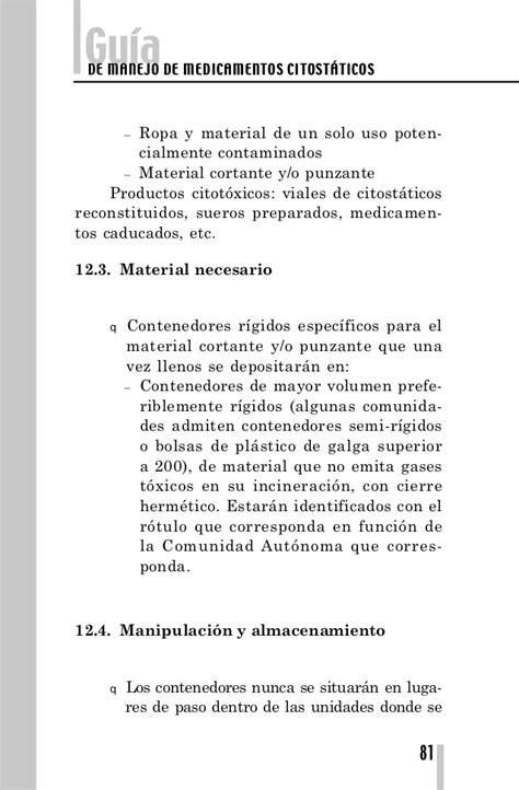 decreto foral 2721998 de 21 de septiembre por el que se gu 237 a de manejo de medicamentos citost 225 ticos