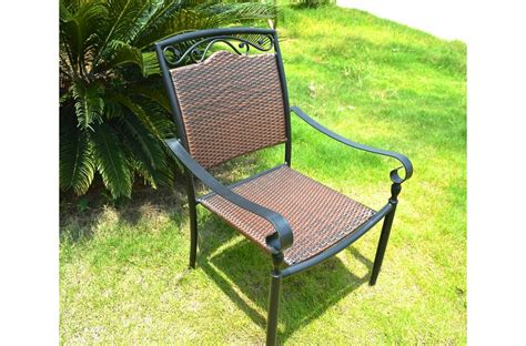 Wrought Iron Chairs Outdoor by Garden Outdoor Patio Wrought Iron And Wicker Chair Florida