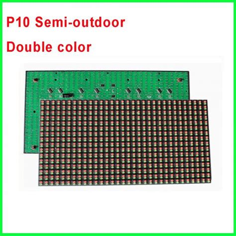 P10 Led Modul Semioutdoor Hijau p10 rg led module p10 1r1g pin out color semioutdoor waterproof 320 160mm scrolling
