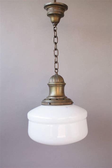 antique brass schoolhouse light simple 1920s brass house pendant at 1stdibs