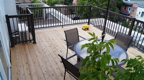 Terrasse Sur Le Toit by Construction D Une Terrasse En C 232 Dre Sur Le Toit Plani