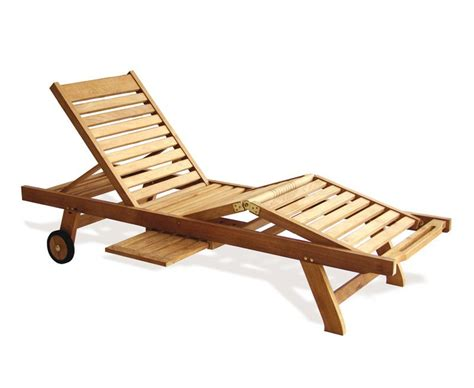 reclining sun lounger luxury teak sun lounger with free cushion