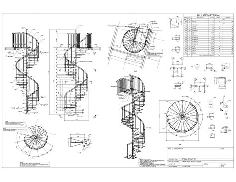 spiral staircase floor plan advanced detailing corp steel stairs shop drawings