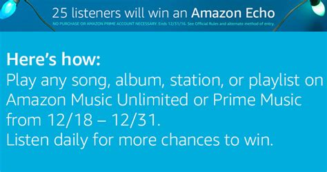 Amazon Giveaway Prime - amazon music amazon echo giveaway