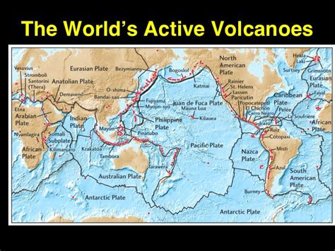 lecture on world map gallery for gt active volcanoes in the world map