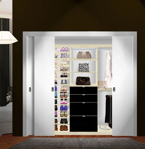 isa custom closet shoe storage drawers and hanging