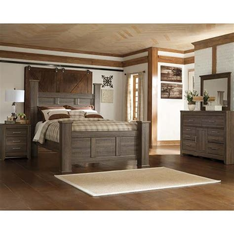 rent   ashley juararo  piece queen bedroom set