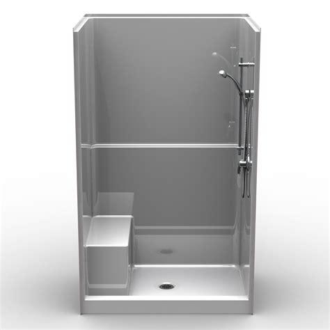 48 x 36 bathtub single piece curbed 48 quot x 36 quot x 78 1 2 quot shower curbed