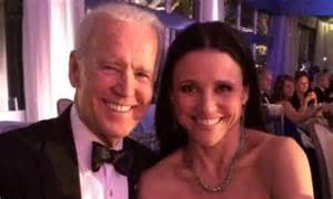 julia louis dreyfus tattoo louis dreyfus posts selfie with joe biden at white