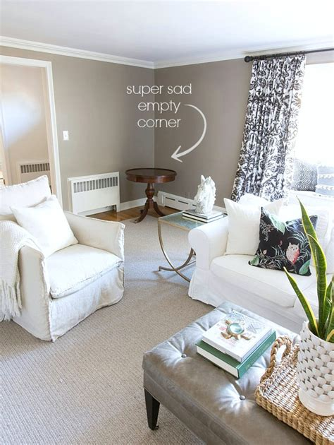 how to decorate corners of living room bye bye bench hello homegoods finds filling an empty
