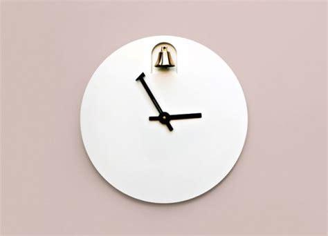 minimalist clock dinn a minimalist clock with a brass bell digsdigs
