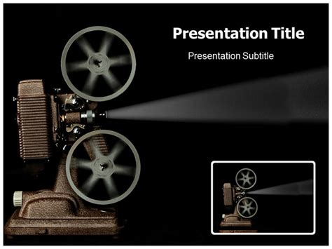 postmodern themes in film powerpoint movie template movie projector powerpoint