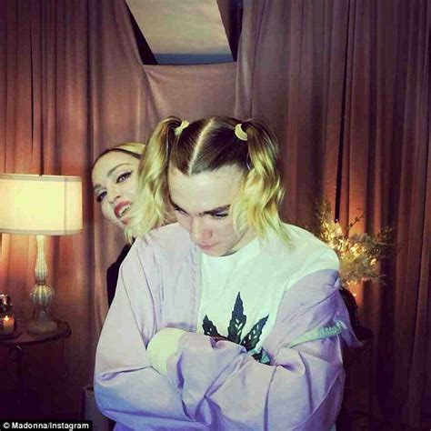 boy gets girly makeover madonna gives son rocco girly makeover on rebel heart tour