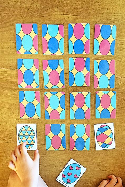 printable memory card game printable easter egg cards 4 games to play