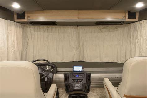 rv front curtains brave interior cab winnebago rvs