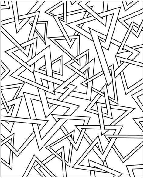 triangle pattern coloring page free coloring pages of 3d