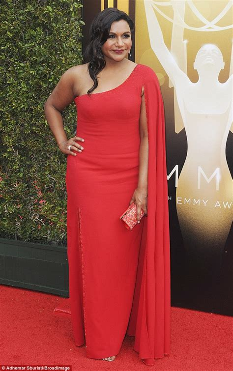 mindy kaling lemon dress mindy kaling stuns in red gown at emmys 2015 before