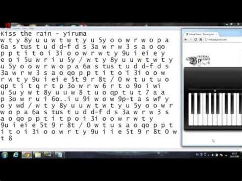 virtual piano kiss  rain yiruma youtube