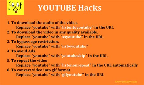 download youtube hack useful youtube tricks download audio video gif of a