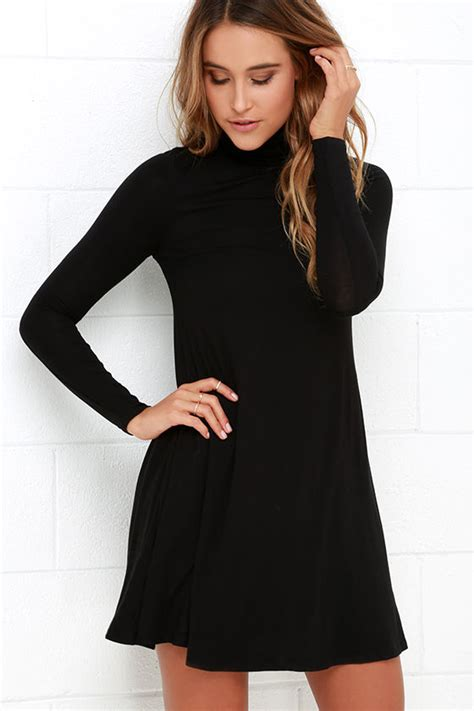 Sy1glsab74 Simple Casual Black White Dress Size S Size M Size L chic black dress swing dress sleeve dress 38 00