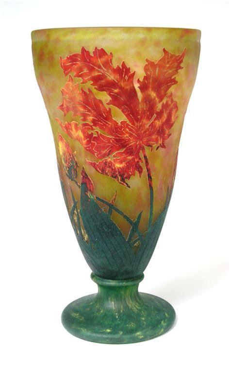 Parrot Vase by Chasenantiques Glass Daum Nancy Parrot
