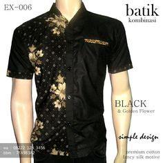 Kemeja Pria Lengan Pendek Terbaru Jerico Black Ak Kemeja Pria Katun batik kombinasi kain polos hitam kemeja batik hitam keren