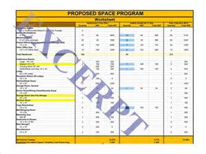 space planning program space planning worksheet and space utilization realcreforms
