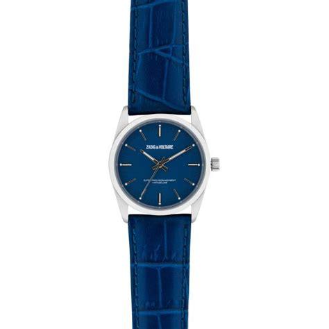 montre zadig et voltaire fusion zvf231 montre cuir bleue femme sur bijourama montre femme