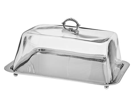 Rectangular Tray rectangular tray with glass dome livluxe designs