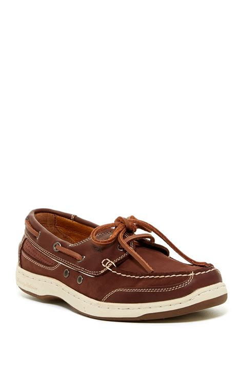 tommy bahama captain boat shoes tommy bahama captain two tone leather boat shoe in brown