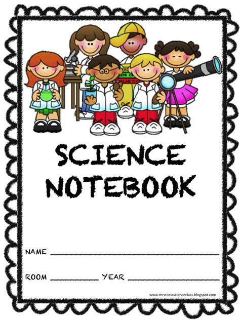 printable science journal kindergarten 6 best images of science journal printable cover kids