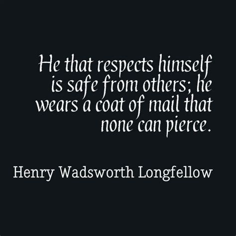 Pay Back Black On White he that respects himself is safe from others he wears a