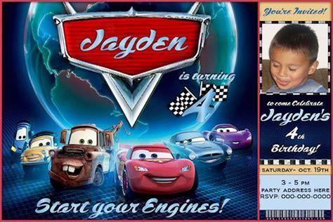personalized disney cars birthday invitations 9 best images about disney car s birthday invites on