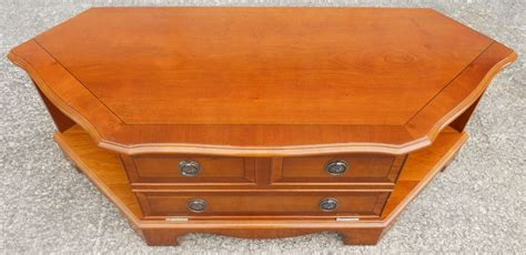 Old Settee Yew Wood Low Tv Stand Dvd Cabinet Sold